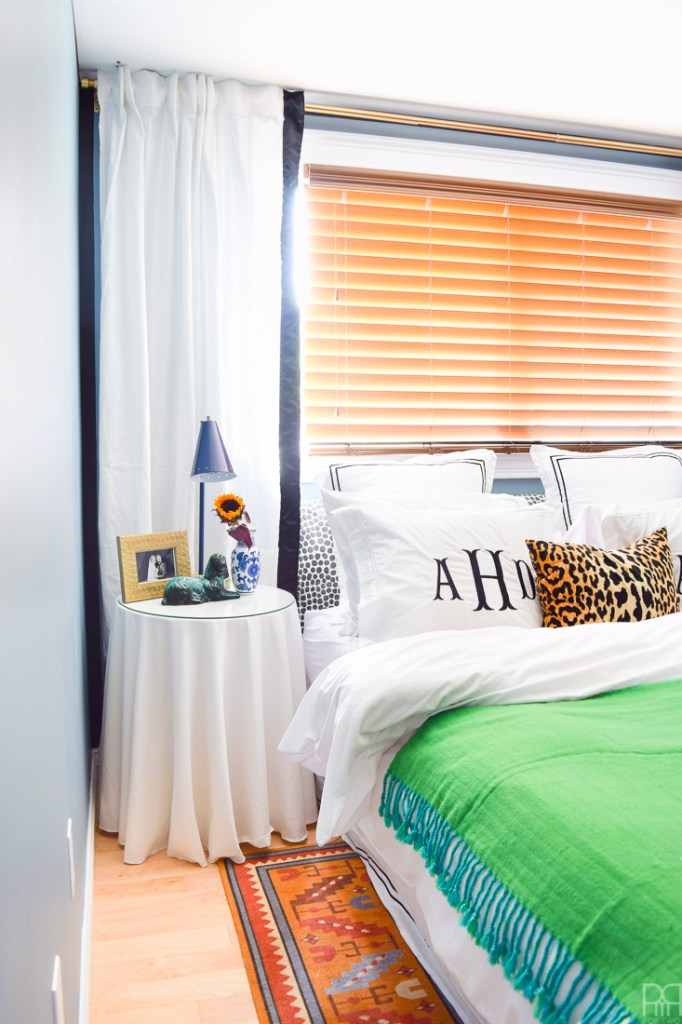 Do you love bold colours, maximalist decor, curated style and pets? Then this Kate Spade Inspired Master Bedroom is for you! I've fused the best of my style, painting techniques and decor to create a stunningly intimate master bedroom in our rental that doesn't break the budget or make the space feel too small.