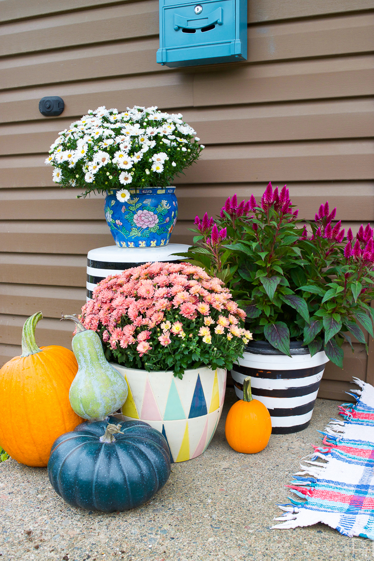 Colourful Floral Fall Porch