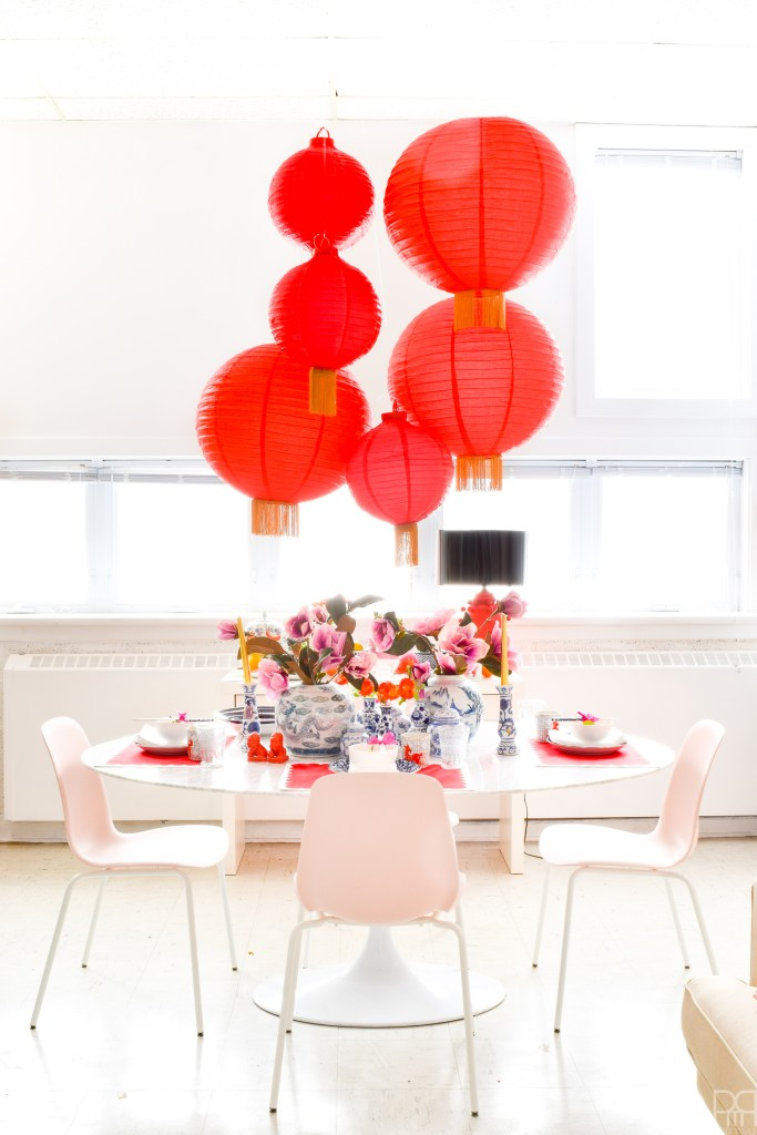 Glam Lunar New Year Tablescape – Year of the Dog