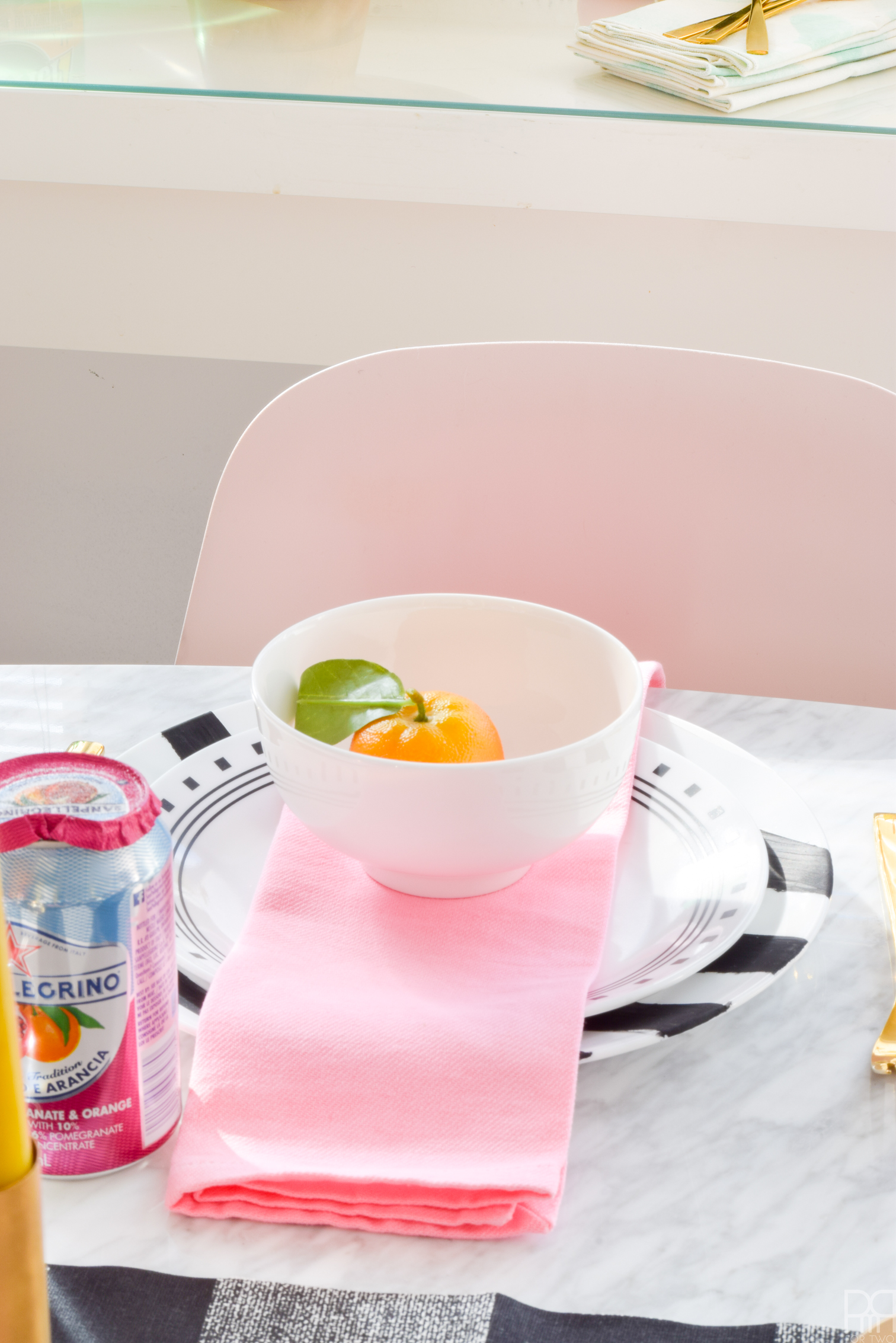 Embrace colour with a Pink & Bold Spring Tablescape. With bright florals, simple patterns, and lots of sunshine, you can create your own slice of spring.
