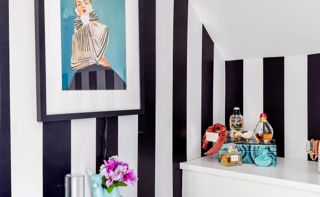Kate Spade Inspired Powder Room The Reveal Pmq For Two