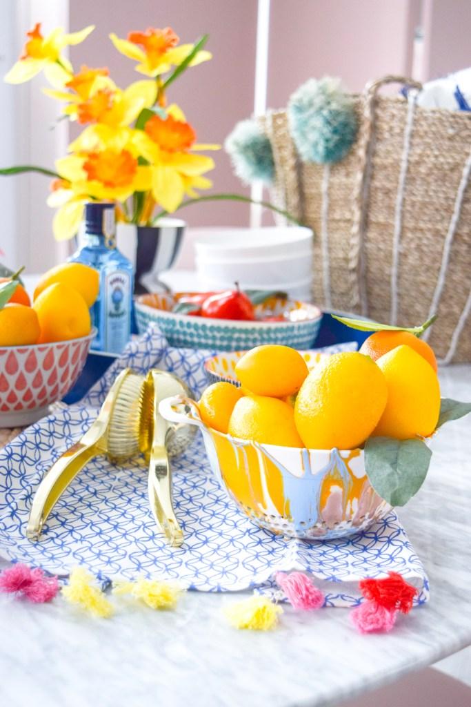 DIY Decorative Marbled Colanders