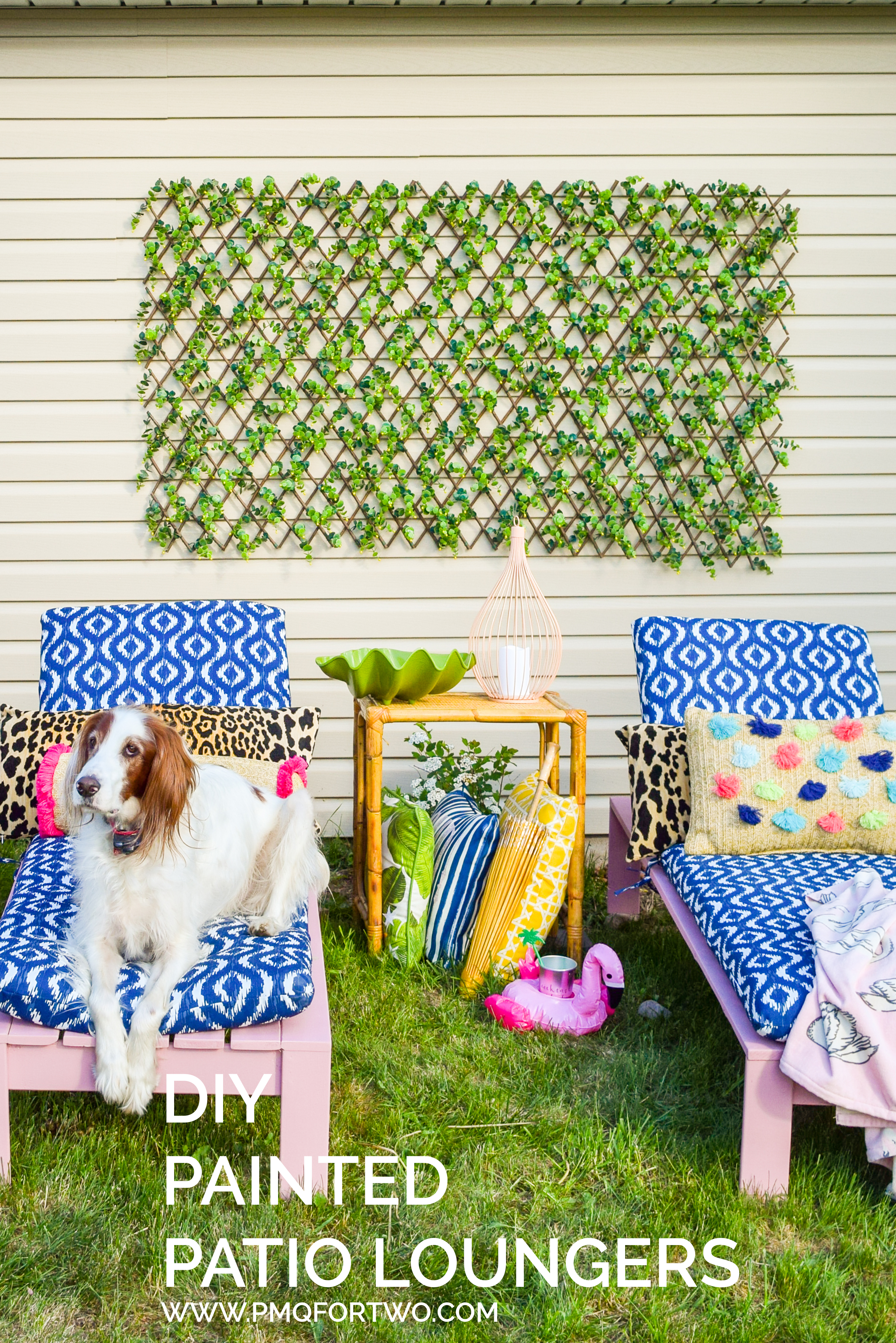This summer, treat yourself to some DIY Patio Loungers painted in a bright and colourful shade. Your yard, patio, or balcony can easily hold one and they're affordable to make. With the quality behind the BEHR name, you know the paint will hold up to anything you throw at it this summer.