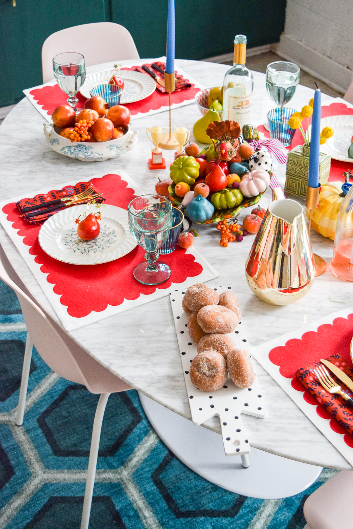 kate spade inspired fall tablescape