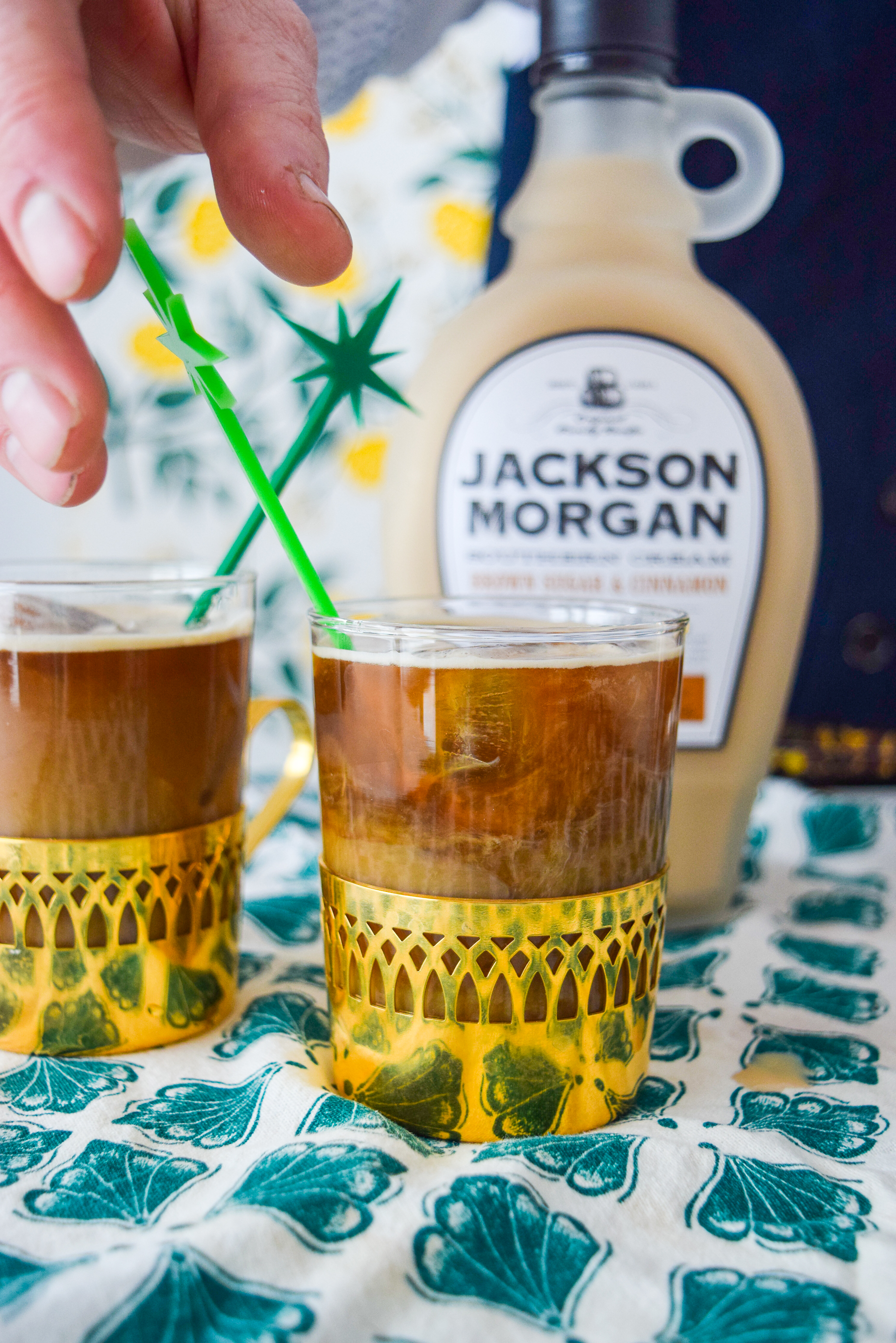 A Whiskey Cream Cold Brew Coffee Cocktail is a great way to start off your St. Patrick's day festivities, or just a fun afternoon cocktail. Don't forget a good book, or the Jackson Morgan Whiskey Cream.