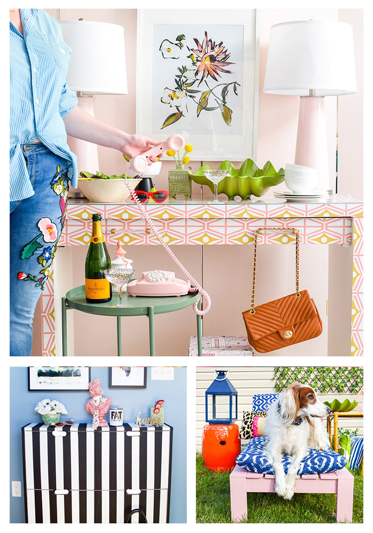 Today I'm sharing 30 creative and colorful Kate Spade inspired DIY's that will totally motivate you to add color to your home or wardrobe!