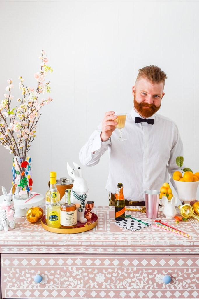 Lemon Gin Champagne Cocktail