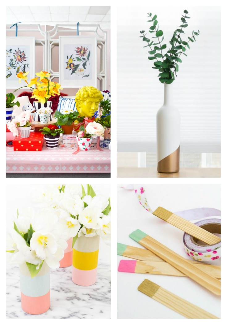 20 Color Blocking Garden and Vase Ideas PMQ For Two