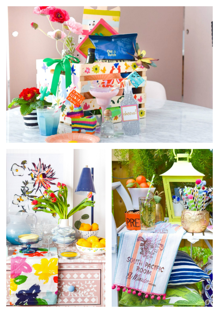 Spring Bar Cart Decor & DIYs
