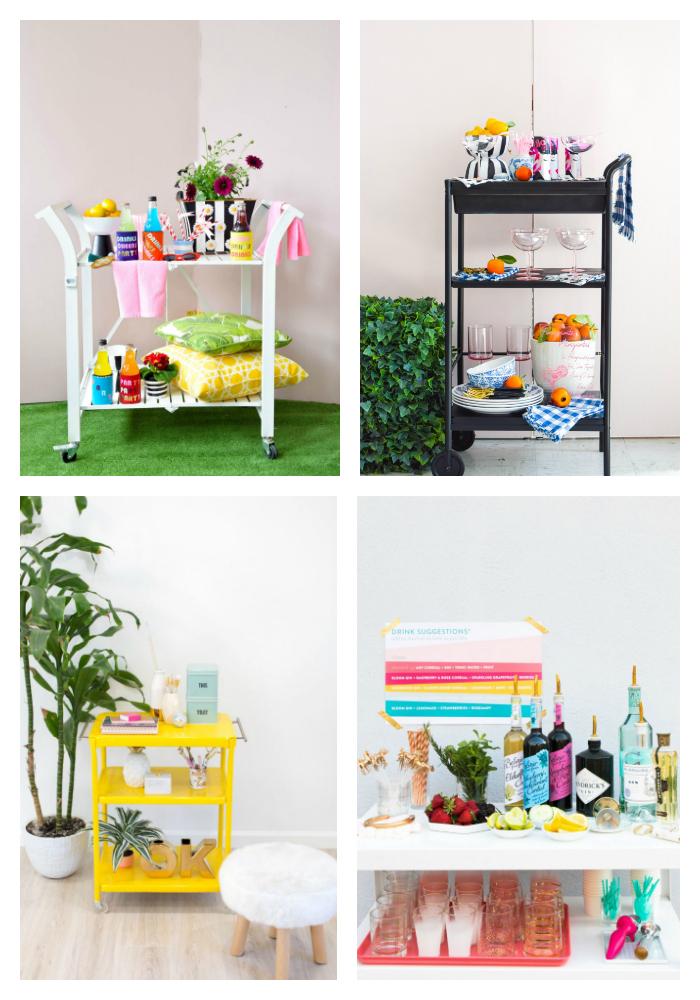 Summer Bar Carts & DIYs