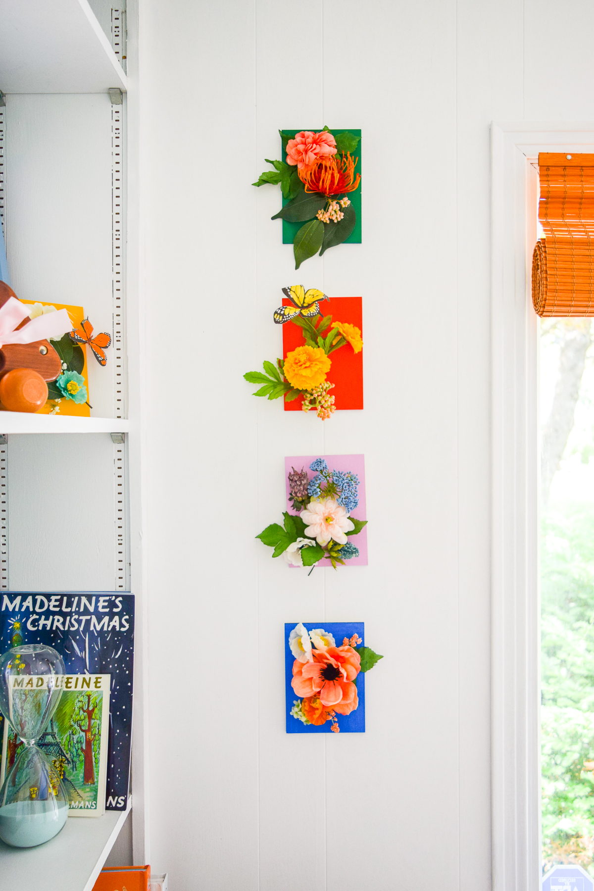 I've never done a nursery, but I do know how to make faux floral wall art - inspired by Rifle Paper Co. - and you can too! You just need the right tools. My Powercut Snips from Fiskars cut right through the wire stems, making them easy to position.