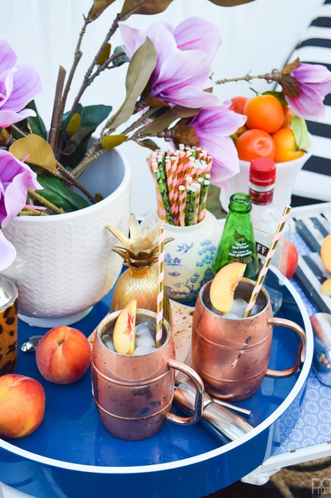 Peach & Honey Moscow Mule by PMQ for two