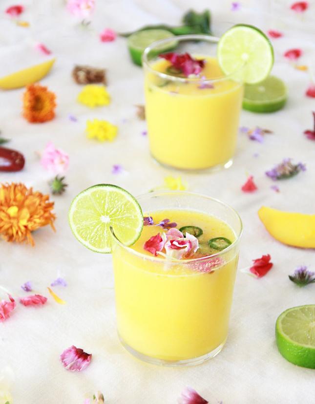 Mango Jalapeno Margarita by A Bubbly Life