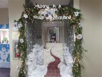 Winter Door & Rustic Wreath And Blue Door Pretty!