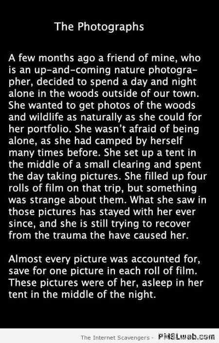 19 the photographs scary