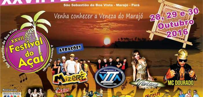 O município de São Sebastião da Boa Vista realiza uma das maiores festas da Ilha do Marajó, O Festival do Açaí