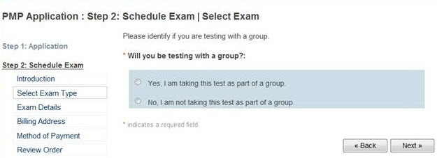 Exame PMP com um grupo
