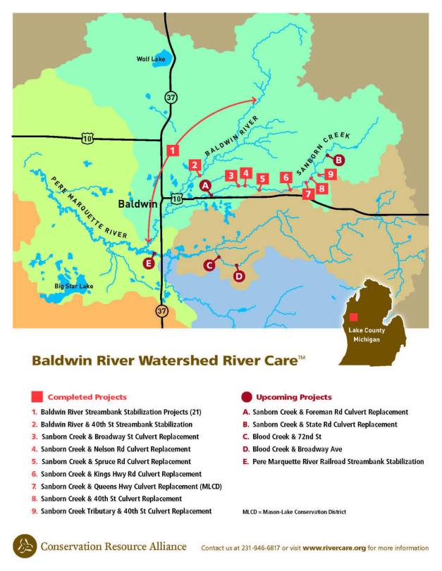 Conservation Resource Alliance - Baldwin River projects