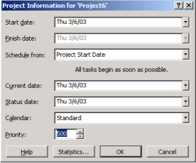 Adding Project Information