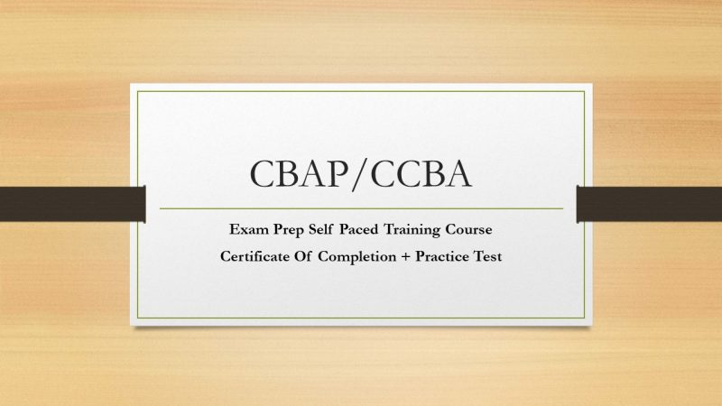Cbap Certification Training Course Aligned With The Babok Guide V3