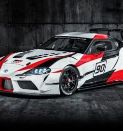 toyota gr unveils the two door supra racing [ 1500 x 718 Pixel ]