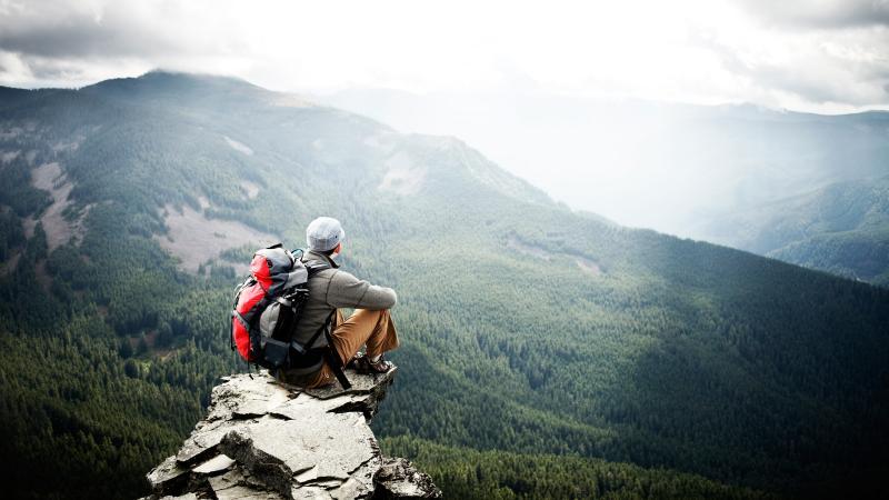 Hiking summit