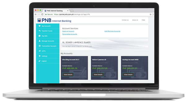 Personal Internet Banking Philippine National Bank