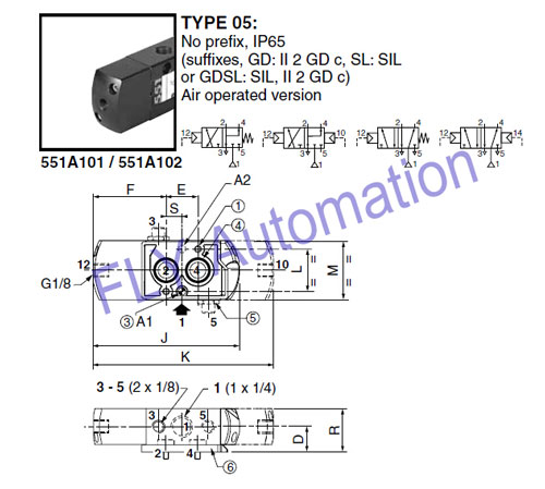 ASCO NUMATICS pilot solenoid valve Stainless steel spool NAMUR