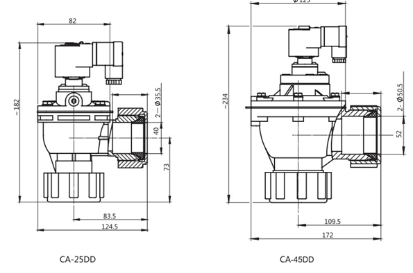Orifice Size 25mm,40mm GOYEN Type Remote Solenoid Control