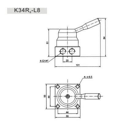 Direct Acting 4/2 Hand Switching Valve G1/4