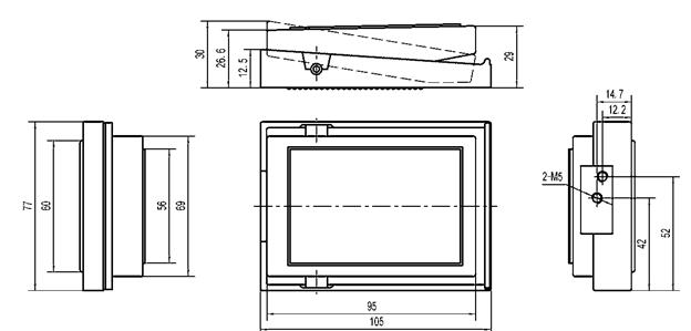 Aluminum Alloy 3 Way Pneumatic Mini Pedal Valve , G1/4