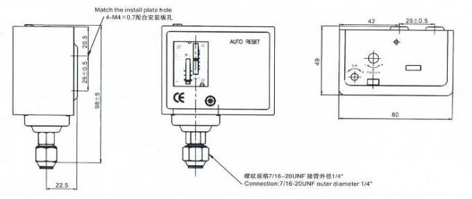Single Ressure Control Air Compressor Pressure Switch 0.35