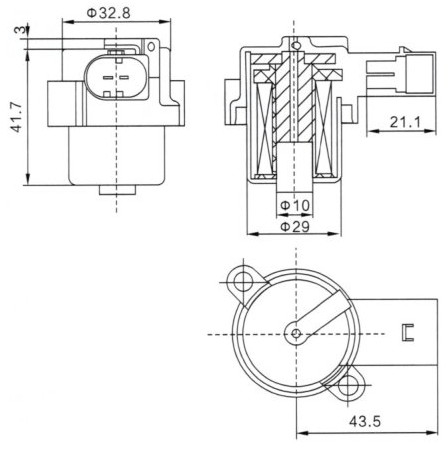 4Z01015200 Air Suspension Compressor Pump Solenoid Coil