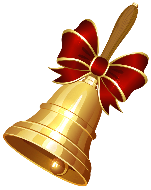 christmas bell transparent