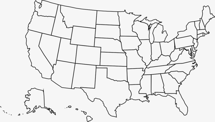 Azimuthal (lambert) equal area projection. Usa Png High Resolution United States Map Outline Hd Png Download 5411495 Png Images On Pngarea