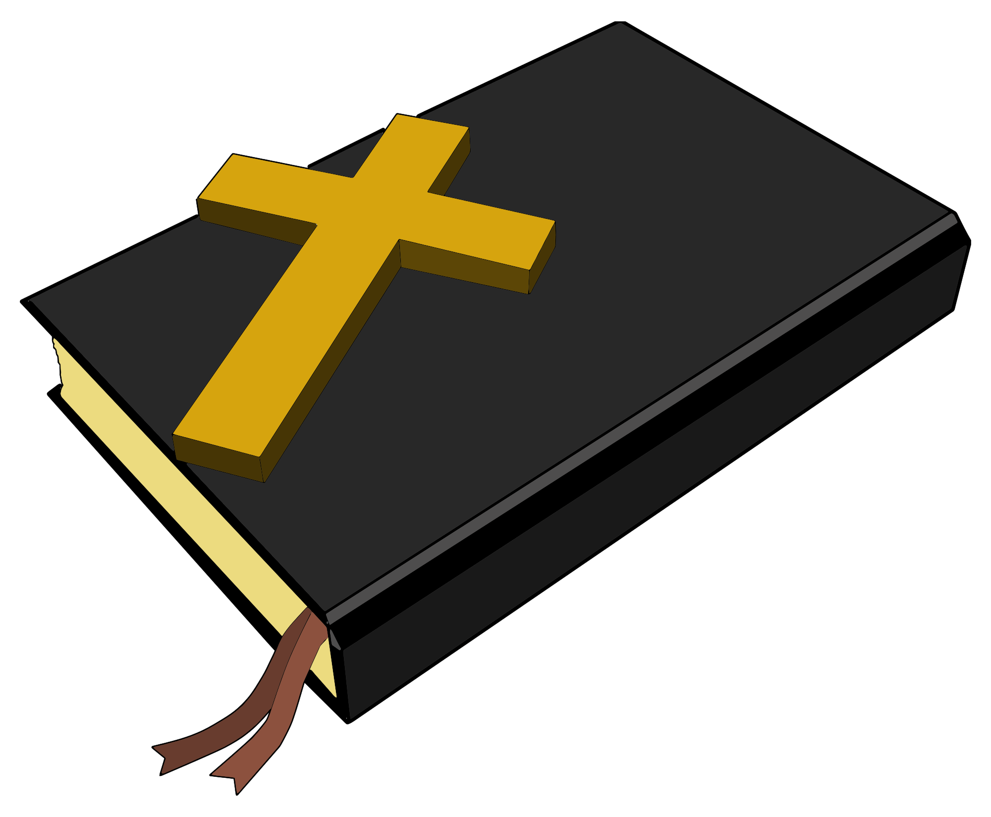 bible with cross png