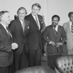 The signing of the Treaty - including Australian Prime Minister Malcolm Fraser, PNG Prime Minister, Michael Somare and Queensland Premier, Joh Bjelke -Petersen
