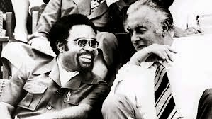 Gough Whitlam with Michael Somare