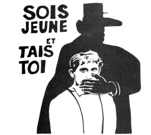 Be young and shut up - the advice of the soixante-huitards (students of 1968) to President de Gaulle