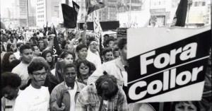 """Fora Collor"" -Out Collor. The student demand for the impeachment of Brazilian President Fernando Collor de Mello"