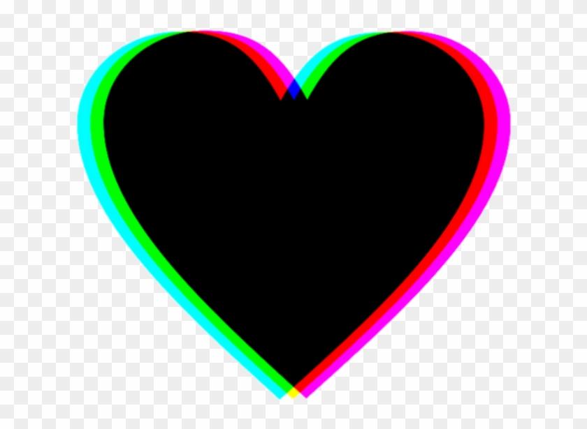 sticker heart black tumblr
