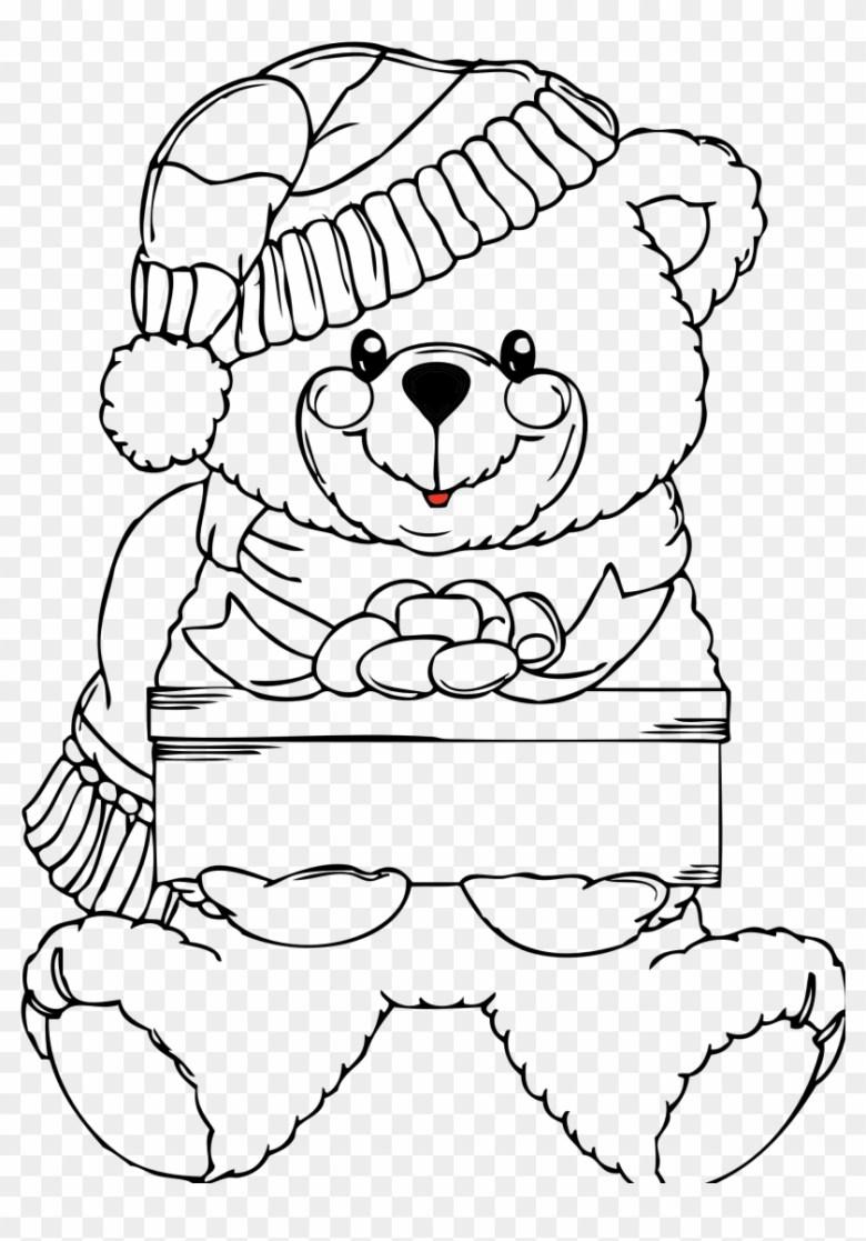 bear black and white black bear clipart black and white - christmas