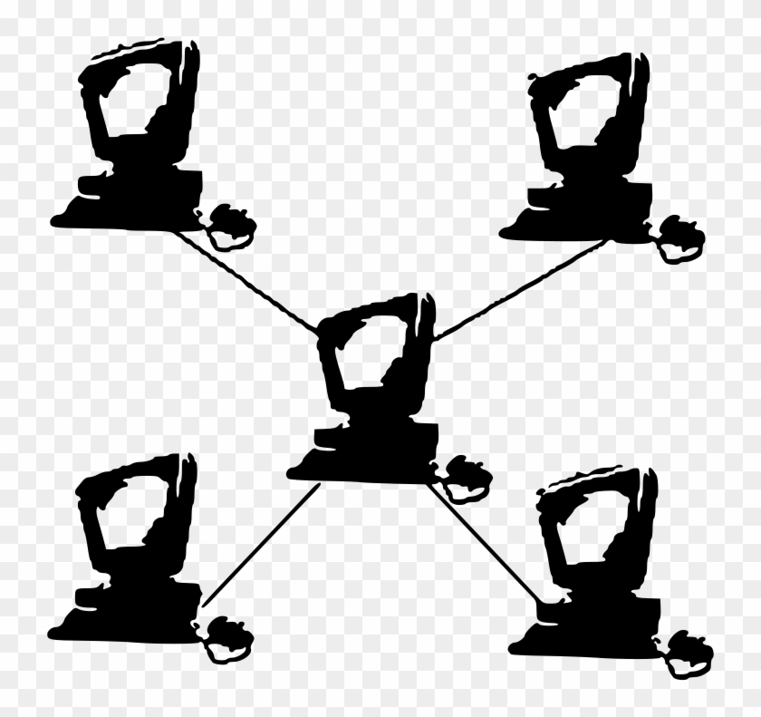Computer Clipart Black And White In Network Topology, HD