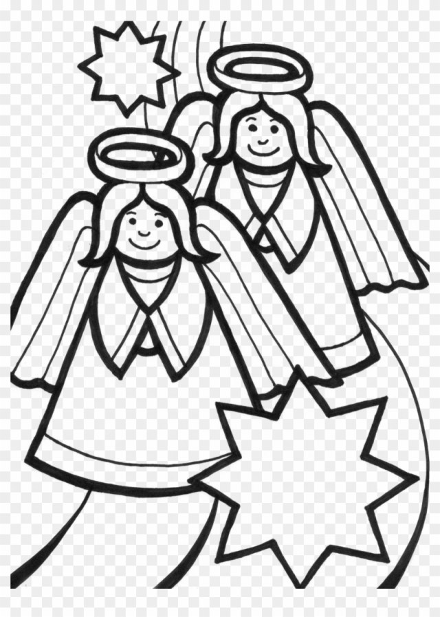 Free Coloring Pages Angels - Coloring Sheet Christmas Angel, HD