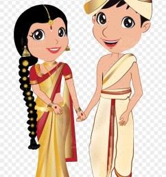 vector royalty free download kannada couple wedding kannada bride and groom cartoon hd png [ 840 x 1251 Pixel ]