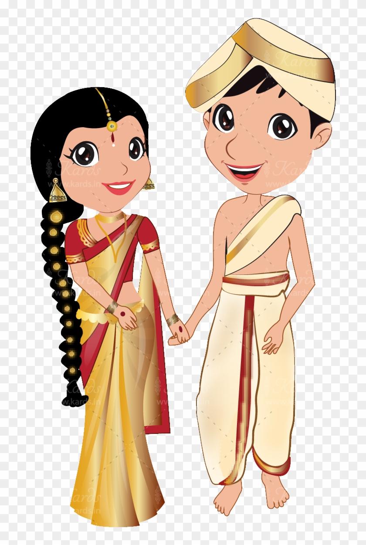 medium resolution of vector royalty free download kannada couple wedding kannada bride and groom cartoon hd png