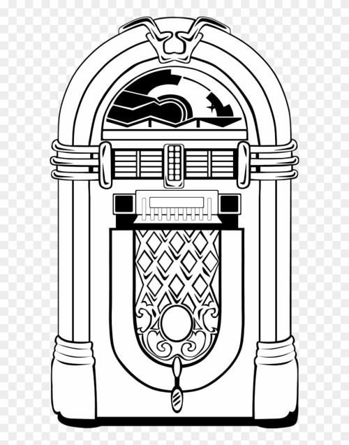 small resolution of jukebox clipart jukebox black and white hd png download