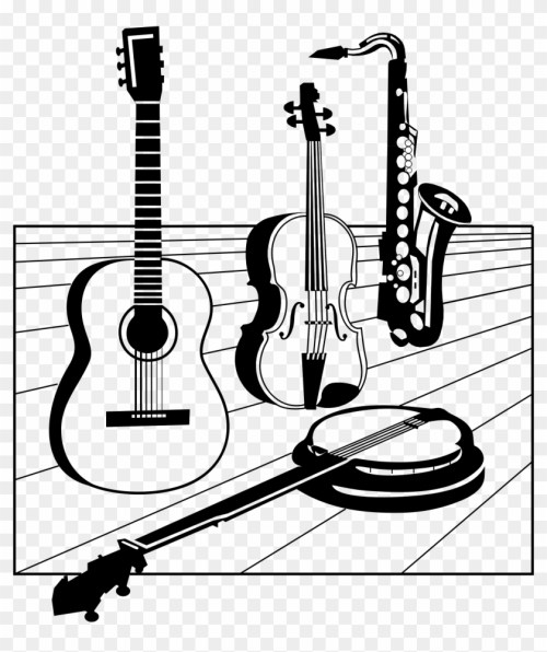 small resolution of classical guitar silhouette at getdrawings music instruments clipart hd png download