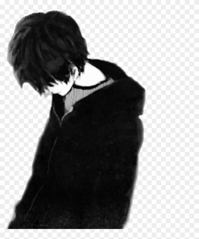 sad boy black only