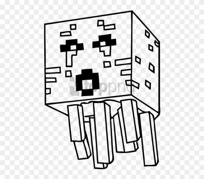 Free Png Coloring Pages Drawing Minecraft Png Image